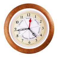 DayClocks™ Combination Series Wall Clock, Maple