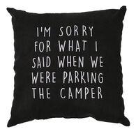 "Sorry Pillow, 16"" x 16"""