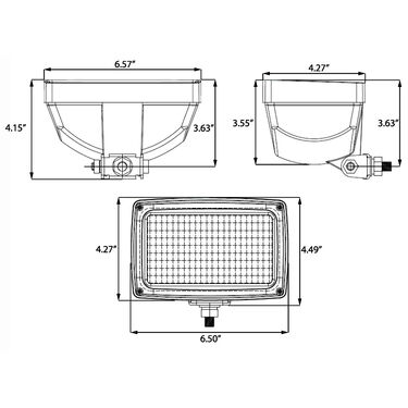 """Optronics 3"""" x 5"""" Utility / Tractor Light With Flood Beam"""
