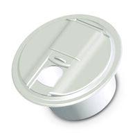 Universal Round Cable Hatch - Polar White