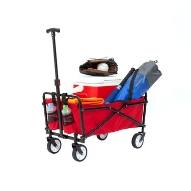 Seina Compact Folding Outdoor Utility Cart, Red