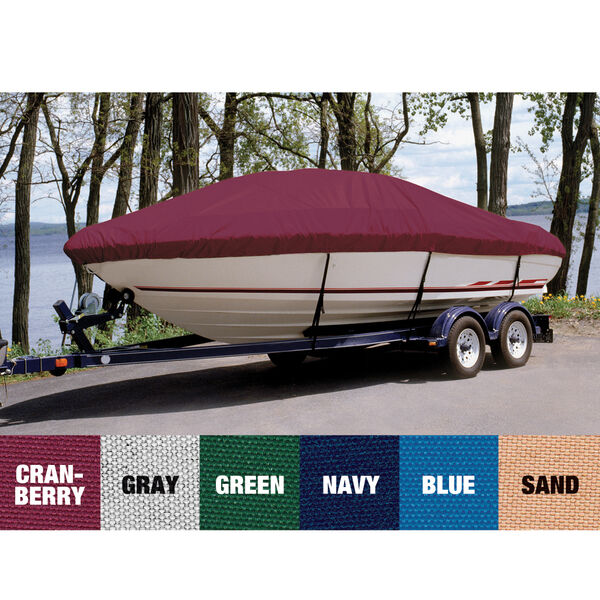Ultima Solution Dyed Polyester Boat Cover For Crownline 180 Bow Rider Open Bow