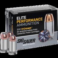 SIG Sauer Elite Performance V-Crown Ammo, .380 ACP, 90-gr., JHP