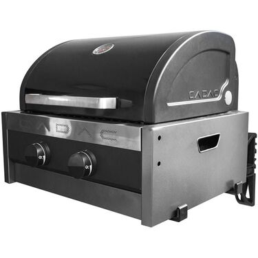Cadac Tailgater Chef Gas Grill, Black, with Mounting Bracket