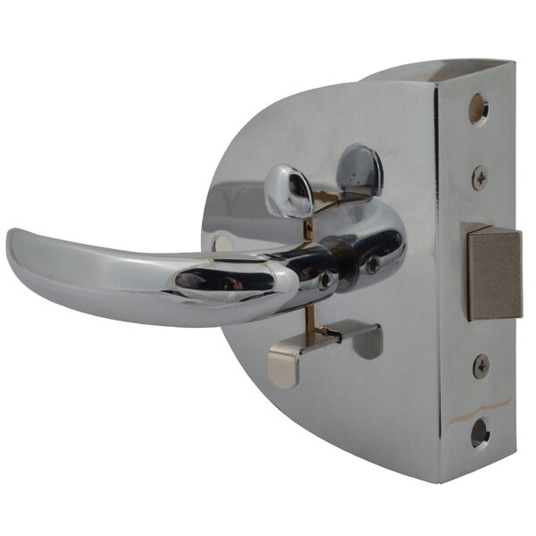 Southco Compact Swing Door Latch - Chrome - Non-Locking