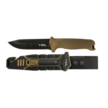 Triton Tactical Fixed Blade Knife, Tan