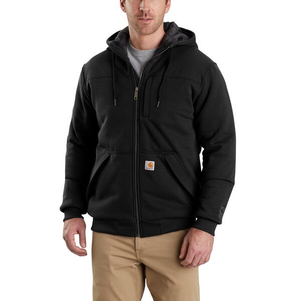 Carhartt Men's Rain Defender Rockland Quilt-Lined Full-Zip Sweatshirt