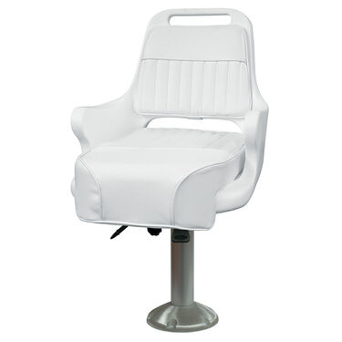 """Wise Ladder Back Pilot Chair w/15"""" Fixed Pedestal and Seat Slide"""