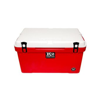 K2 Summit 50 Quart Cooler, Red Base and White Lid