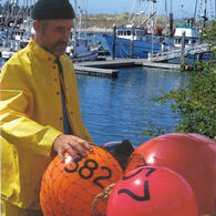 """Commercial Fishing Net Buoy, Neon Red (12"""" x 16"""")"""