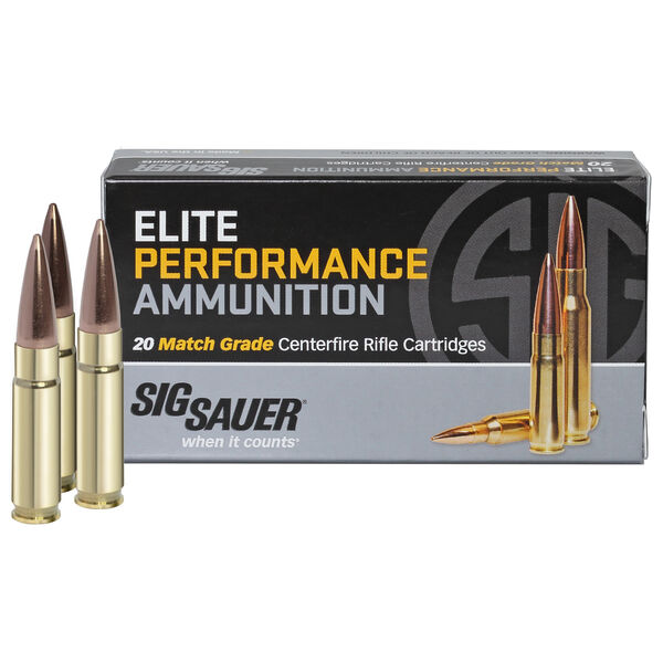 SIG Sauer Elite Performance Match Ammo, .300 AAC Blackout, 125-gr., Supersonic
