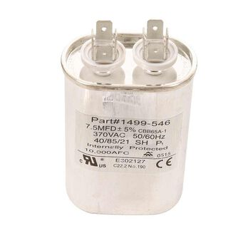 Capacitor, Fan/Run (7 5 Mfd, 370 VAC, 50-60 Hz)