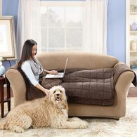 "Deluxe Pet Loveseat Throw - 52"" Width, Brown"