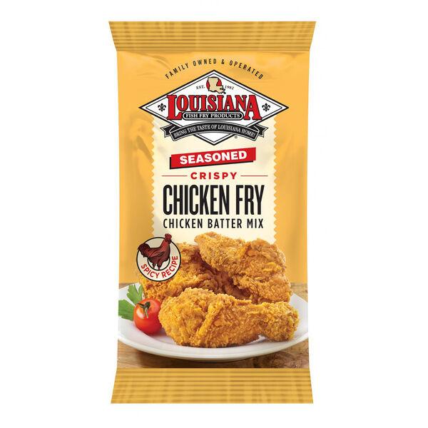Louisiana Fish Fry Seasoned Crispy Chicken Fry Chicken Batter Mix, 9-Oz.