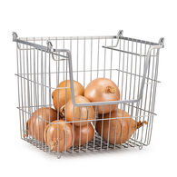 Home Basics Stackable Wire Basket with Handles
