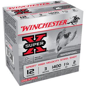"Winchester Xpert High Velocity Steel Shot, 12-ga., 3"", 1-1/4 oz., #2"