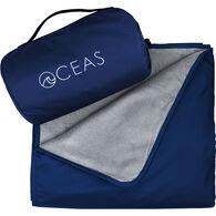Oceas Waterproof Fleece Blanket, Blue