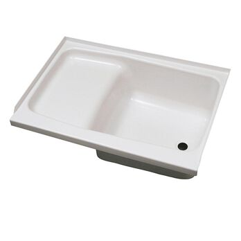 """Replacement ABS Step Tub, 24"""" x 40"""", White with Right Drain"""