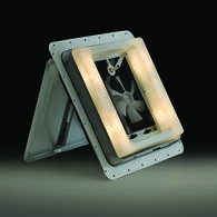 Vent with 12-Volt Light and Fan
