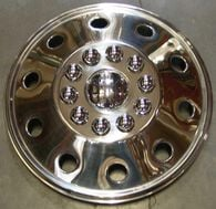 "Namsco Stainless Steel Wheel Covers, Set of 4 - 19.5"" All Styles"
