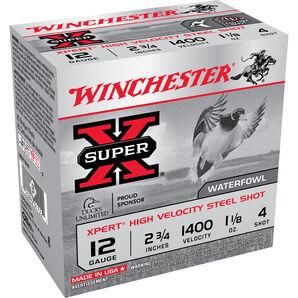 "Winchester Xpert Hi-Velocity Steel Shotshells, 12-ga., 2-3/4"", 1-1/8oz., #4"