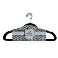 Home Collections Velvet Hangers, 10-Pack