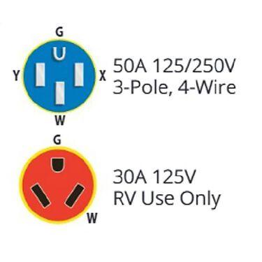 50A Male/30A Female Dogbone Adapter