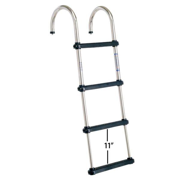 Overton's Removable Telescoping Pontoon Boat Ladder 4-Step