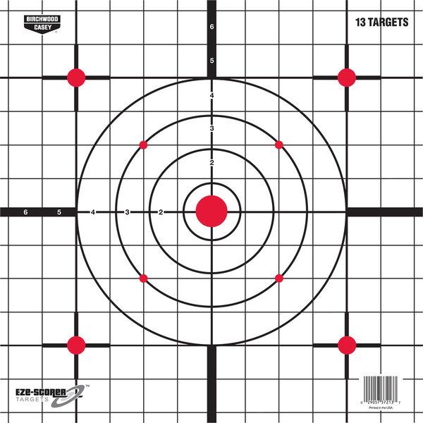 "Birchwood Casey EZE-Scorer 12"" Sight-In Paper Targets, 13-Pack"