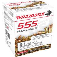 Winchester 555-Round Ammo Bulk Pack, .22 LR, 36 Gr., CPHP