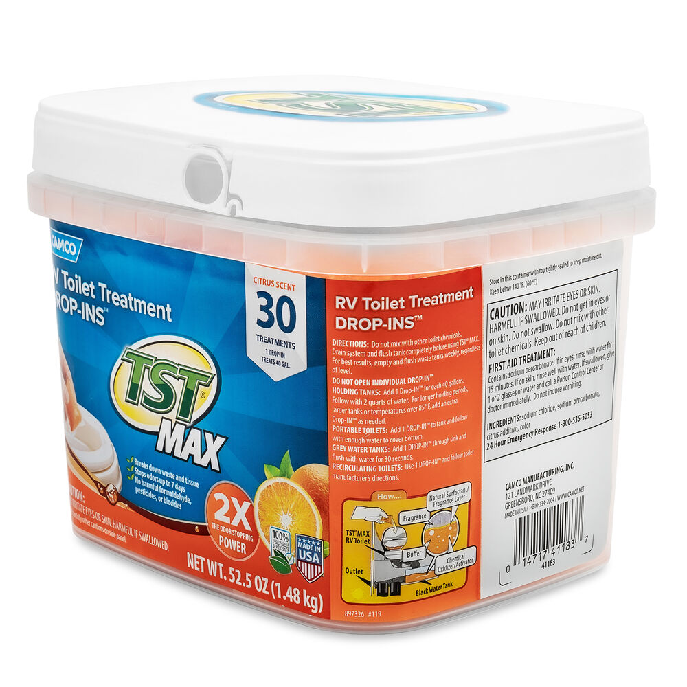 Camco Tst Max Rv Toilet Treatment Citrus Scent 30 Drop Ins Camping World