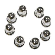 "Lug Nut Covers Stainless Steel Ford 1-1/16"", 8pk"