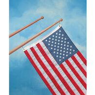 "Whitecap Teak Teak Flag Pole, 18""L, 3/4"" Base Diameter"