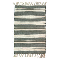 Multi-Striped Cotton Woven Rug