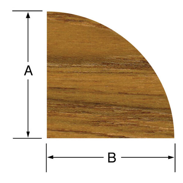 Whitecap Teak Teak Large Quarter Round Molding, 5' long