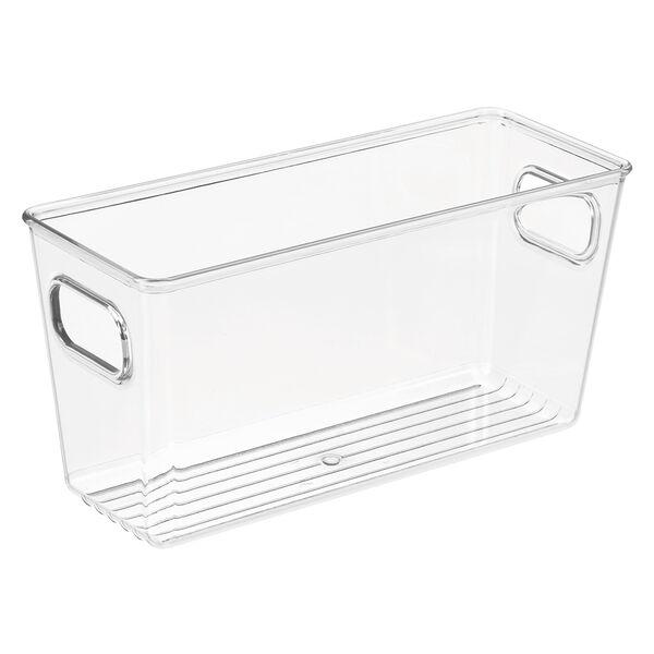 iDesign Chloe Bathroom Storage Bin, Clear
