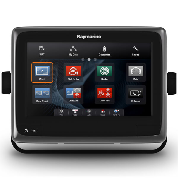"""Raymarine a98 9"""" MFD Combo With US LNC Vector Charts And CHIRP/DownVision Sonar"""