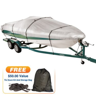 "Covermate Imperial 300 Euro-Style V-Hull Outboard Boat Cover, 17'5"" max. length"