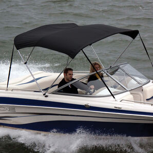 """Shademate Bimini Top Polyester Fabric/Boot Only, 3-Bow 5'L x 32""""H, 61""""-66""""W"""
