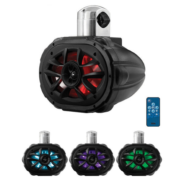 """Boss Audio MRWT69RGB 6"""" x 9"""" Two-Way Waketower Speaker, Each"""