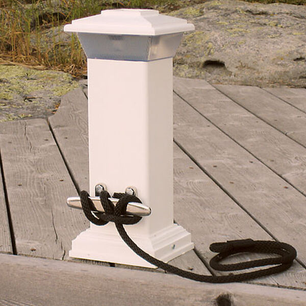 Dock Edge Solar Dock Light With Stainless Steel Cleat