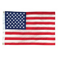 "Deluxe Sewn Nylon American 50-Star Flag, 12"" x 18"""