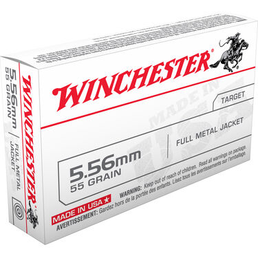 Winchester USA Rifle Ammo, 5.56x45mm, 55-gr., FMJ