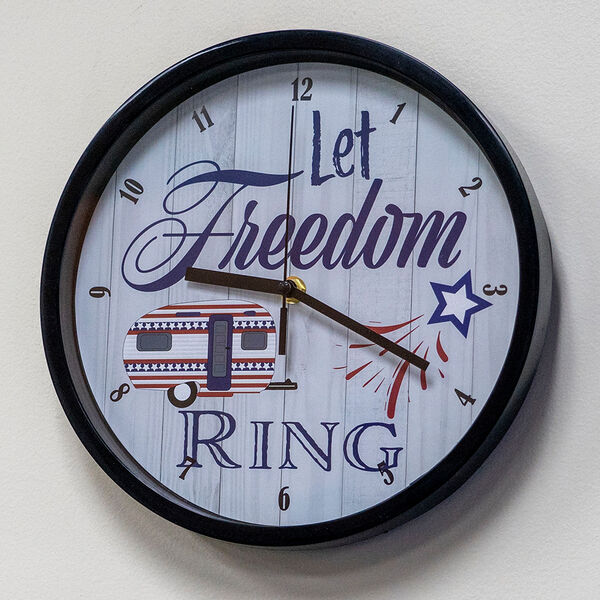 """""""Let Freedom Ring"""" Wall Clock"""
