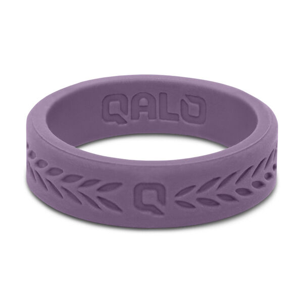 QALO Women's Lilac Laurel Q2X Silicone Ring