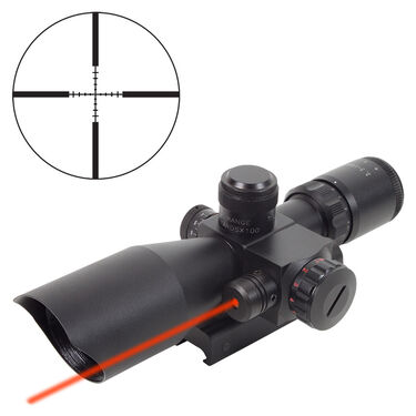 Firefield 2.5-10x40 Riflescope with Red Laser, Mil-Dot Reticle