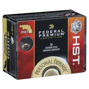 Federal Premium Personal Defense HST Handgun Ammo, .38 Special +P, 130-gr., HST