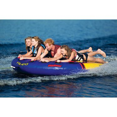 Gladiator Hero 4-Person Towable Tube With Lightning Valve
