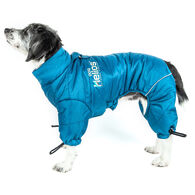 Helios Thunder-crackle Full-Body Waded-Plush Adjustable and 3M Reflective Dog Jacket, Blue Wave X-Small