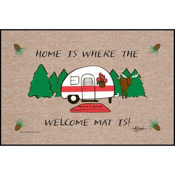 "Home Is Where You Park It Door Mat, 18"" x 27"""